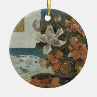 Chinesische Pfingstrosen und Mandoline durch Paul Keramik Ornament
