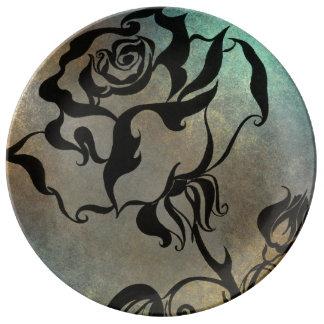 Chinesische Rose Porzellanteller