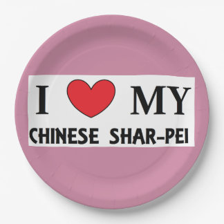 chinesische shar Liebe Pappteller