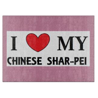 chinesische shar Liebe Schneidebrett