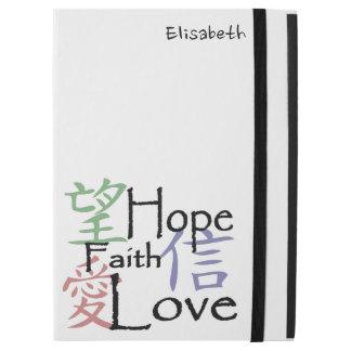 Chinesische Symbole für Liebe, Hoffnung und