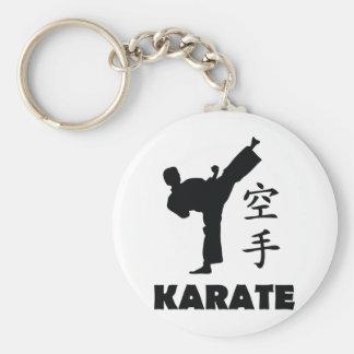 chinesische Symbolikone des Karatemannes Standard Runder Schlüsselanhänger