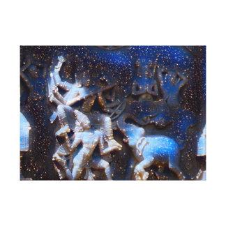 Chinesische Tanzen-Götter - acht Unsterbliche Leinwanddruck