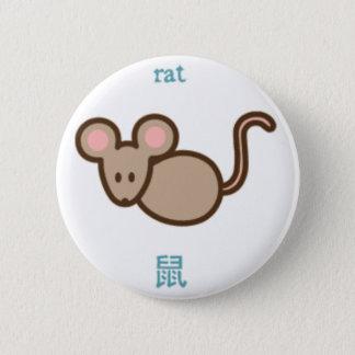 Chinesische Tierkreis-Ratte Runder Button 5,7 Cm