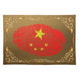 Chinesische Touchfingerabdruckflagge Stofftischset