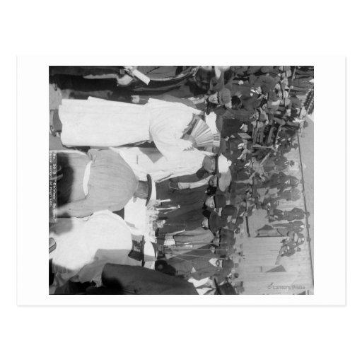 Chinesische Trauernde am Beerdigungs-Service für Postkarten