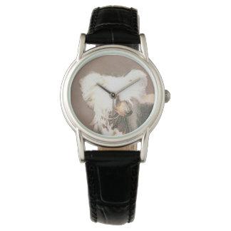 Chinesische unbehaarte Malerei-mit Haube Armbanduhr