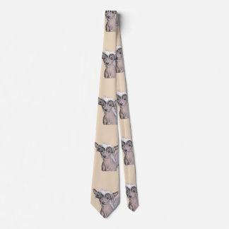 Chinesische unbehaarte Malerei-mit Haube Krawatte