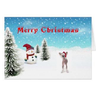 Chinesische Weihnachtskarte mit Haube Karte