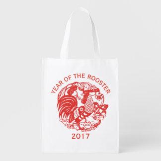 Chinesische wiederverwendbare Tasche des papercut Wiederverwendbare Einkaufstasche