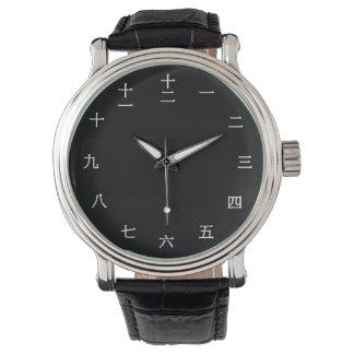 Chinesische Zahluhr des charakter-(weißer Uhr