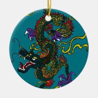 Chinesischer Drache Keramik Ornament