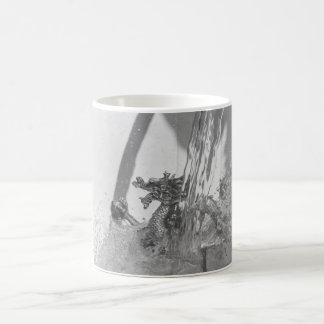 Chinesischer Drache Schwarzweiss Kaffeetasse
