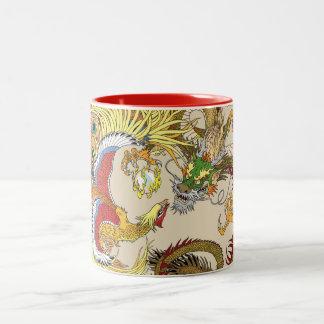 Chinesischer Drache und Phoenix Zweifarbige Tasse