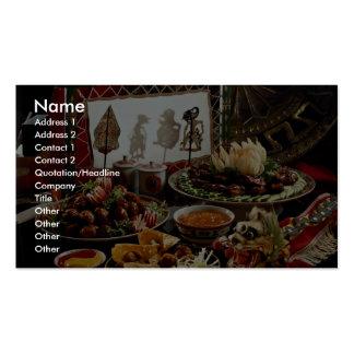 Chinesischer festlicher Abendessen-Teller Visitenkarten Vorlage