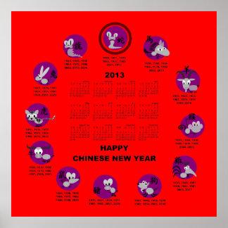 85 chinesischer kalender poster zazzle. Black Bedroom Furniture Sets. Home Design Ideas