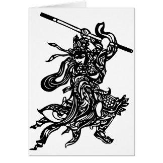 Chinesischer Krieger Karte