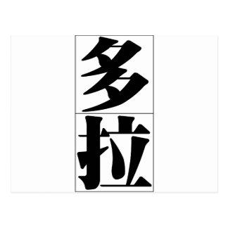 Chinesischer Name für Dora 20090_3.pdf Postkarte