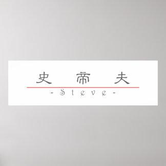 Chinesischer Name für Steve 208251_2.pdf Posterdrucke