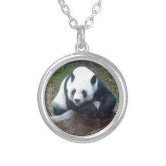 Chinesischer Panda-Bär Versilberte Kette