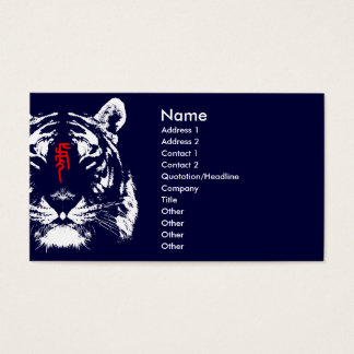 Chinesischer Tierkreis-Tiger in der Visitenkarten