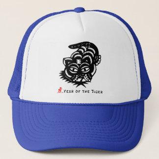Chinesischer Tierkreis-Tiger-Papier-Schnitt Truckerkappe