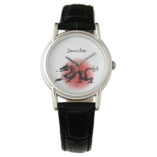 Chinesischer traditioneller Drachename Armbanduhr