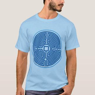 chinesisches Blau des Echolabyrinths T-Shirt