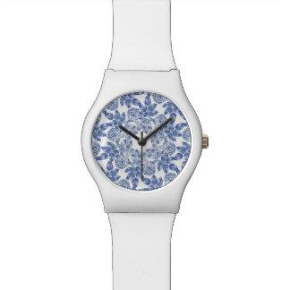 Chinesisches blaues Porzellan-Muster - RetroFlat