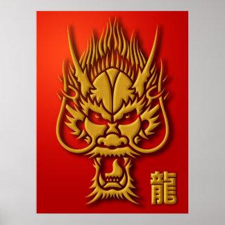 Chinesisches Drache-Illustrations-Plakat Poster