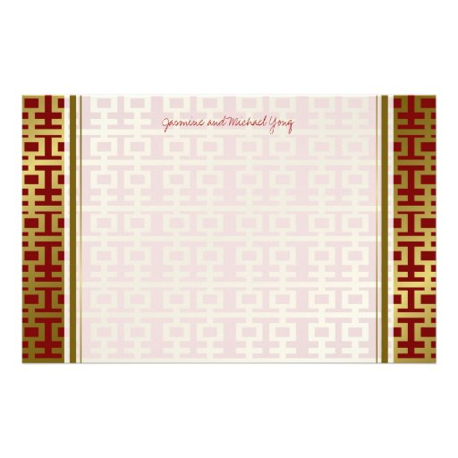 Chinesisches Hochzeits-Doppelt-Glück-Muster danken Druckpapier