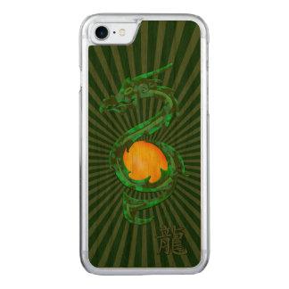 Chinesisches Jahr des Drache-Jade-Grüns Carved iPhone 8/7 Hülle