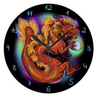 Chinesisches Jahr des Drachen Große Wanduhr