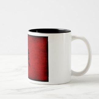 Chinesisches Kalligraphie-Symbol für Affen im Rot Zweifarbige Tasse