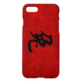 Chinesisches Kalligraphie-Symbol für Kaninchen im iPhone 8/7 Hülle