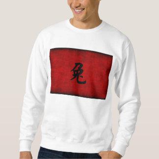 Chinesisches Kalligraphie-Symbol für Kaninchen im Sweatshirt