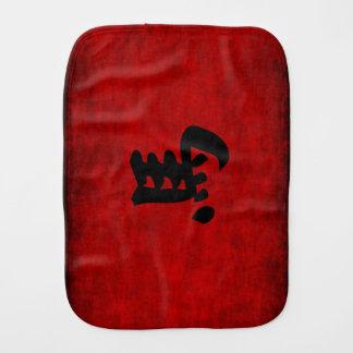 Chinesisches Kalligraphie-Symbol für Pferd im Rot Spucktuch