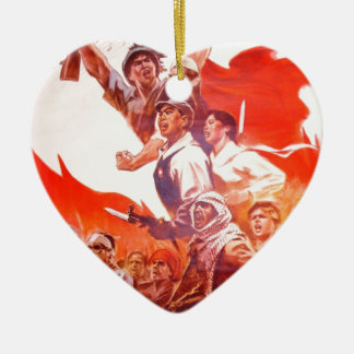 Chinesisches Kunst-Plakat Keramik Herz-Ornament