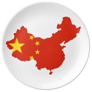 Chinesisches Land Teller Aus Porzellan
