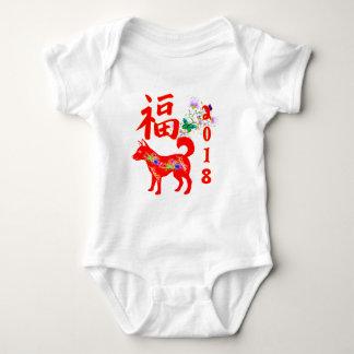 Chinesisches neues Jahr 2018 Baby Strampler