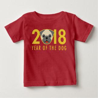 Chinesisches neues Jahr 2018 Jahr des HundeMops Baby T-shirt