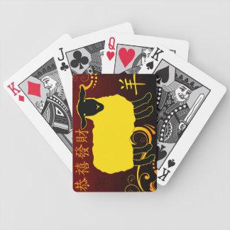 chinesisches neues Jahr der Schafe Bicycle Spielkarten