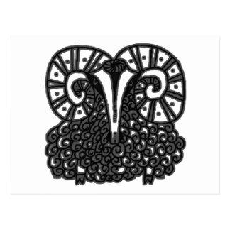 Chinesisches Neujahrsfest der Schafe Postkarte