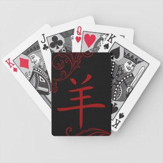 chinesisches Schafsymbol (blühen Sie) Bicycle Spielkarten