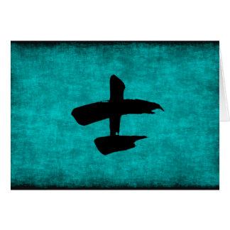 Chinesisches Schriftzeichen-Malerei für Krieger im Mitteilungskarte