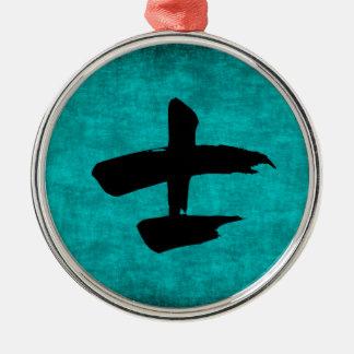Chinesisches Schriftzeichen-Malerei für Krieger im Silbernes Ornament
