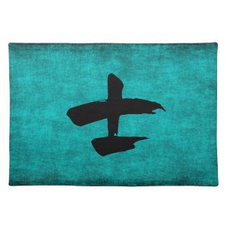 Chinesisches Schriftzeichen-Malerei für Krieger im Tischset