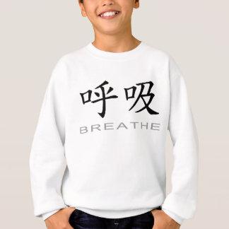 Chinesisches Symbol für atmen Sweatshirt