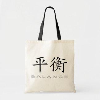 Chinesisches Symbol für Balance Budget Stoffbeutel