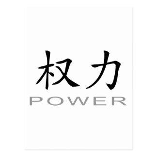 Chinesisches Symbol für Power Postkarte